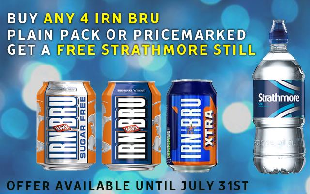 Irn Bru - Buy 4 get Free water