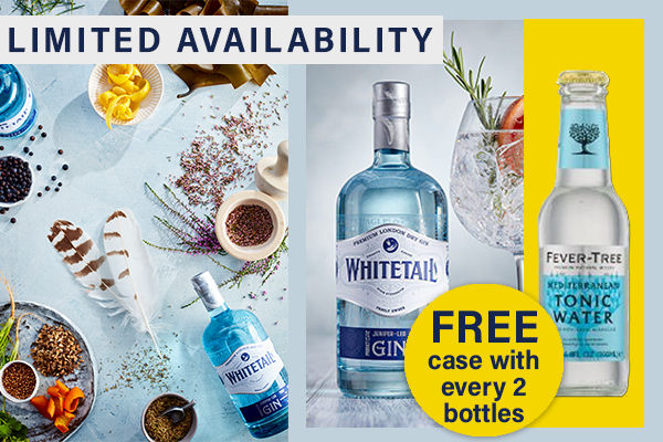 Buy 2 bottles Whitetail Gin get a case of tonic